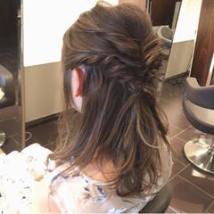 ハイライト ロング 秋 ヘアアレンジ ヘアスタイルや髪型の写真・画像