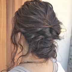 エレガント ヘアアレンジ 女子会 結婚式 ヘアスタイルや髪型の写真・画像