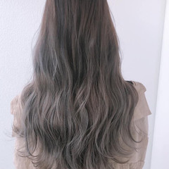髪質改善 髪質改善トリートメント ロング アッシュグラデーション ヘアスタイルや髪型の写真・画像