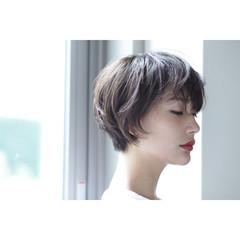透明感 色気 ボブ ナチュラル ヘアスタイルや髪型の写真・画像