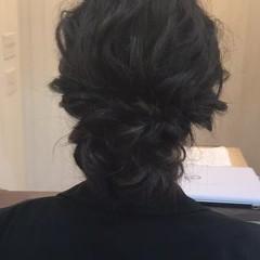 二次会 波ウェーブ ナチュラル 結婚式 ヘアスタイルや髪型の写真・画像