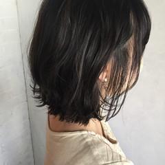 オフィス 暗髪 デート ボブ ヘアスタイルや髪型の写真・画像