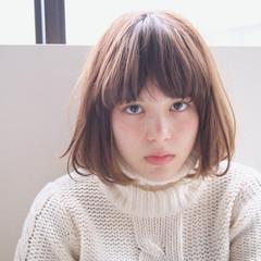 簡単 丸顔 ボブ 卵型 ヘアスタイルや髪型の写真・画像
