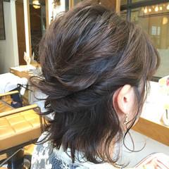 ウェットヘア ヘアアレンジ 簡単ヘアアレンジ ハーフアップ ヘアスタイルや髪型の写真・画像