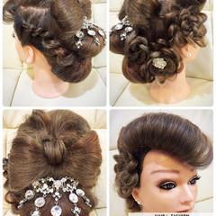 アップスタイル アッシュ ロング 振袖 ヘアスタイルや髪型の写真・画像