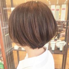 ショート ショートヘア 横顔美人 コンサバ ヘアスタイルや髪型の写真・画像
