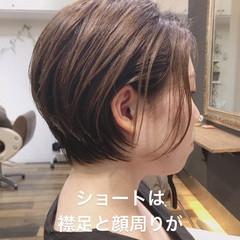 丸みショート くせ毛 ナチュラル ショートヘア ヘアスタイルや髪型の写真・画像