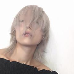 外国人風カラー ミルクティーベージュ モード ウルフカット ヘアスタイルや髪型の写真・画像