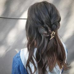 女子会 ナチュラル セミロング デート ヘアスタイルや髪型の写真・画像