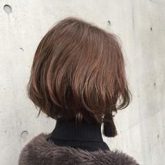 透明感 ナチュラル 冬 オフィス ヘアスタイルや髪型の写真・画像