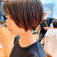ショートボブ ショートヘア 丸みショート マッシュショート ヘアスタイルや髪型の写真・画像