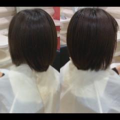 ナチュラル ショートボブ 髪質改善カラー 艶髪 ヘアスタイルや髪型の写真・画像