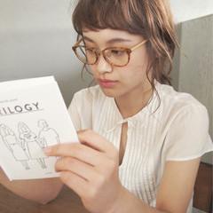 ミディアム 外国人風 ワイドバング パーマ ヘアスタイルや髪型の写真・画像