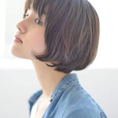 マッシュ ミニボブ ショートボブ ショートヘア ヘアスタイルや髪型の写真・画像