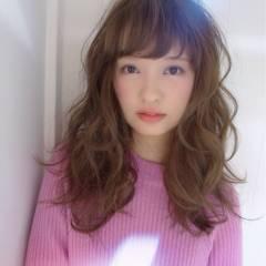 ロング フェミニン ゆるふわ モテ髪 ヘアスタイルや髪型の写真・画像