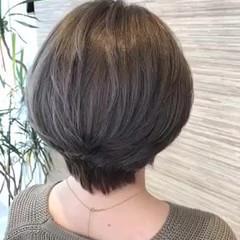 ショート ショートヘア イルミナカラー ショートボブ ヘアスタイルや髪型の写真・画像