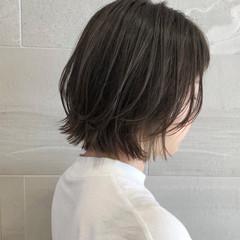 切りっぱなしボブ 切りっぱなし ナチュラル ミニボブ ヘアスタイルや髪型の写真・画像