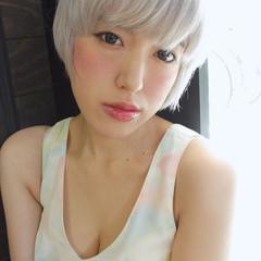 ピュア ショート 外国人風 アッシュ ヘアスタイルや髪型の写真・画像