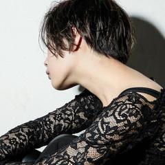 ゆるふわ ショート パーマ 黒髪 ヘアスタイルや髪型の写真・画像