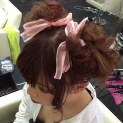 ライブ ヘアアレンジ お団子 ゆるふわ ヘアスタイルや髪型の写真・画像