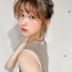 ヘアアレンジ 簡単ヘアアレンジ シニヨン セルフヘアアレンジ ヘアスタイルや髪型の写真・画像