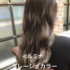 パーマ デジタルパーマ ロング イルミナカラー ヘアスタイルや髪型の写真・画像