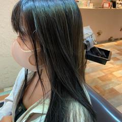 大人ハイライト レイヤースタイル ロング グレージュ ヘアスタイルや髪型の写真・画像