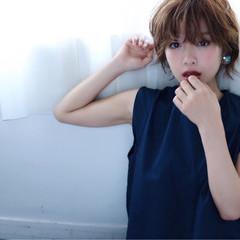 ショート 大人女子 大人かわいい ゆるふわ ヘアスタイルや髪型の写真・画像
