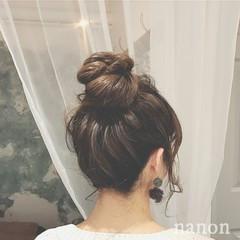 ヘアアレンジ フェミニン デート 冬 ヘアスタイルや髪型の写真・画像
