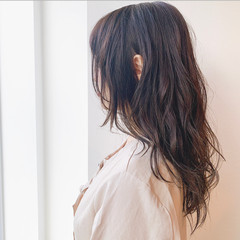 圧倒的透明感 セミロング ナチュラル 透明感カラー ヘアスタイルや髪型の写真・画像