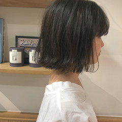 ナチュラル ハイライト 透明感 外ハネ ヘアスタイルや髪型の写真・画像
