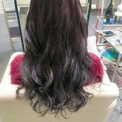 ロング フェミニン アッシュ グラデーションカラー ヘアスタイルや髪型の写真・画像