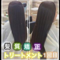 髪質改善トリートメント ナチュラル 髪質改善 髪質改善カラー ヘアスタイルや髪型の写真・画像