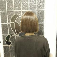 ボブ ハイライト 冬 グラデーションカラー ヘアスタイルや髪型の写真・画像