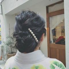 ヘアアレンジ 冬 ロング 黒髪 ヘアスタイルや髪型の写真・画像