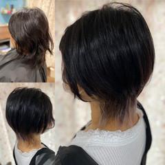 ガーリー ミディアム レイヤーカット ウルフレイヤー ヘアスタイルや髪型の写真・画像