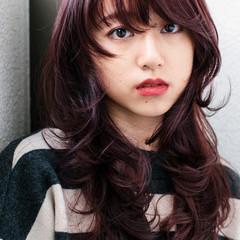 ピンク ロング こなれ感 大人女子 ヘアスタイルや髪型の写真・画像