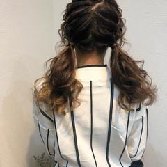 フェミニン ヘアセット ツイン ツインテール ヘアスタイルや髪型の写真・画像