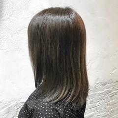ロブ ミディアム ガーリー ブルージュ ヘアスタイルや髪型の写真・画像