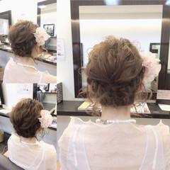 ヘアアレンジ 結婚式 外国人風 波ウェーブ ヘアスタイルや髪型の写真・画像