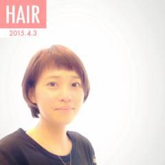 ショート ショートバング 春 コンサバ ヘアスタイルや髪型の写真・画像