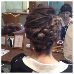 ミディアム 編み込み モテ髪 愛され ヘアスタイルや髪型の写真・画像