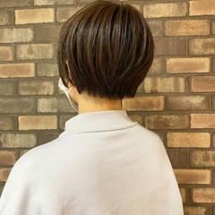 ナチュラル ハンサムショート ハイライト ショート ヘアスタイルや髪型の写真・画像
