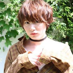 フェミニン アウトドア デート ボブ ヘアスタイルや髪型の写真・画像