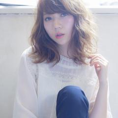 外国人風 ゆるふわ ミディアム 大人かわいい ヘアスタイルや髪型の写真・画像