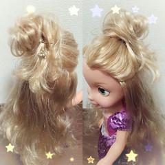 メッシーバン ヘアアレンジ ハーフアップ 外国人風 ヘアスタイルや髪型の写真・画像
