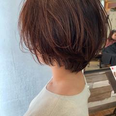 フェミニン ショート ミニボブ ヘアスタイルや髪型の写真・画像