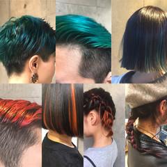 冬 暗髪 グラデーションカラー モード ヘアスタイルや髪型の写真・画像