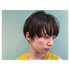 黒髪 オフィス ヘアアレンジ ショート ヘアスタイルや髪型の写真・画像