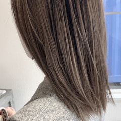 大人かわいい ミディアム ブリーチ必須 透明感カラー ヘアスタイルや髪型の写真・画像